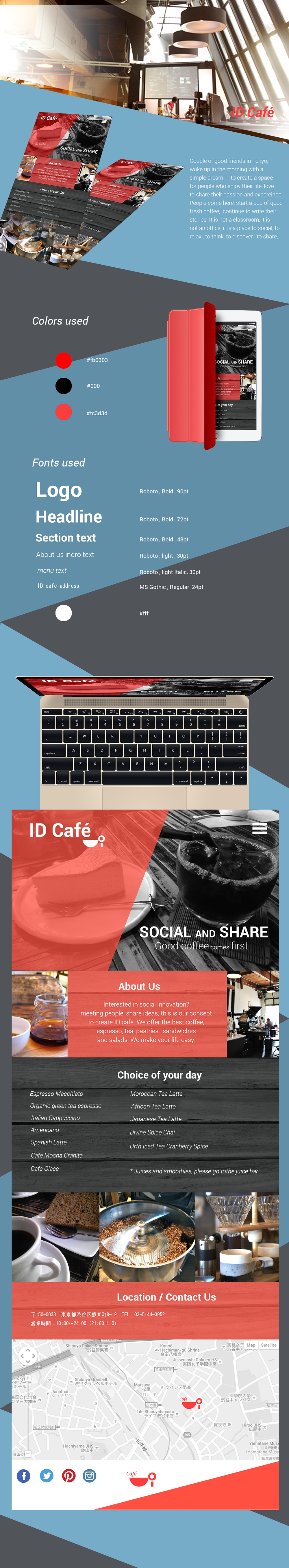 ID cafe page presentation